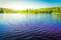 Błękit jasny jezioro Fotografia Stock