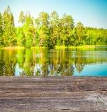 Błękit jasny jezioro Zdjęcie Royalty Free