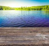 Błękit jasny jezioro Obraz Royalty Free