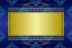 błękit karcianych ciemnych dekoracj złoty wektor ilustracja wektor
