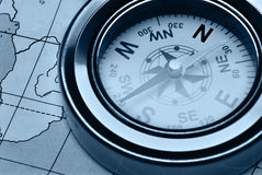 błękit karty koloru kompas zdjęcie royalty free