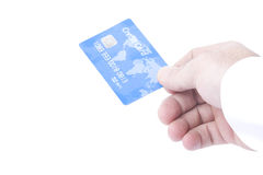 błękit karty kredyt bez nazwy Fotografia Stock