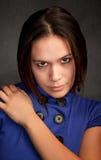 błękit kobieta smokingowa ładna Zdjęcia Stock
