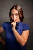 błękit kobieta smokingowa ładna Obraz Royalty Free