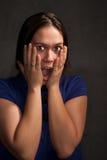 błękit kobieta smokingowa ładna Fotografia Royalty Free