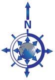 błękit kompasu róży wiatr royalty ilustracja