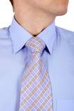 błękit koszulowy zamknięty wiąże koszulowy Fotografia Royalty Free