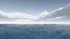 błękit krajobrazowy oceanu palm niebo Obraz Royalty Free