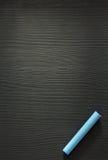 Błękit kreda na drewnie zdjęcie stock