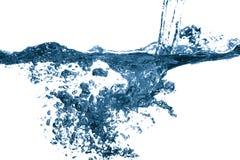 błękit kropli woda Obraz Royalty Free