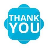 Błękit kwadratowa ikona dziękuje ciebie Fotografia Royalty Free