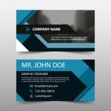 Błękit kwadratowa korporacyjna wizytówka, imię karty szablon, horyzontalny prosty czysty układu projekta szablon, Biznesowy sztan ilustracji