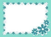 Błękit kwitnąca rama Zdjęcie Stock