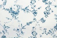 Błękit kwitnie i liście tapetują teksturę zdjęcie royalty free