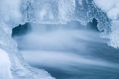 błękit lód Zdjęcie Royalty Free
