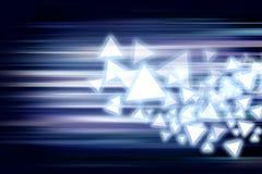 Błękit lekki i lampasy rusza się szybkiego tło Obraz Royalty Free