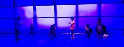 błękit lobby Zdjęcia Royalty Free