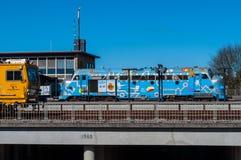 Błękit MÓJ rocznik dieslowska lokomotywa Zdjęcie Stock