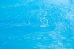 Błękit malował drewnianą teksturę, tło i tapetę, Horyzontalny skład Obrazy Royalty Free