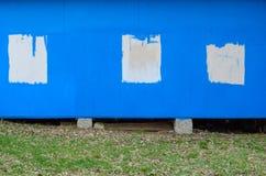 Błękit malująca drewniana tekstura zdjęcia stock