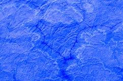 Błękit malująca papierowa tkanka Obrazy Royalty Free