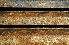 Błękit malujący metal z rdzą… Zdjęcie Stock