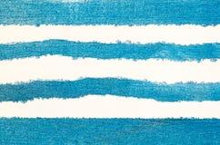 Błękit malujący pasiasty tło Obrazy Stock