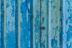 Błękit malujący stary drewno Obraz Royalty Free