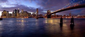 błękit Manhattan Zdjęcie Royalty Free