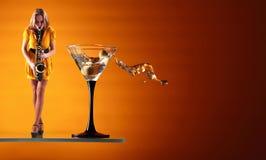 błękit Martini Zdjęcia Stock