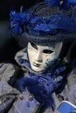 Błękit maska przy karnawałem Wenecja zdjęcie royalty free