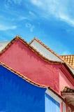 Błękit, menchie i biel, Zdjęcie Royalty Free