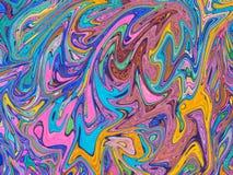 Błękit menchii marmurkowaty tło Jaskrawy cyfrowy marmoryzaci tło Zdjęcie Royalty Free