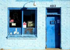 błękit miastowy sklepowy Zdjęcia Stock