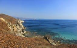 błękit morze brzegowy skalisty Zdjęcie Stock