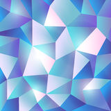 Błękit mozaiki Lekki Poligonalny tło Fotografia Royalty Free