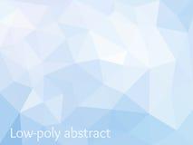 Błękit mozaiki Lekki Poligonalny tło Zdjęcia Royalty Free