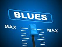 Błękit muzyka Reprezentuje Rozsądnego ślad I amplifikator royalty ilustracja