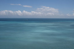 błękit obłoczny oceanu nieba biel Zdjęcie Stock
