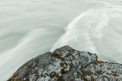 błękit odbitkowy szybki spływania przestrzeni strumienia brzmienie Zdjęcie Royalty Free