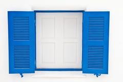błękit okno domowy biały Obraz Stock