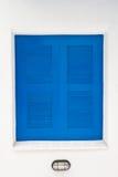 błękit okno domowy lampowy biały Obraz Stock