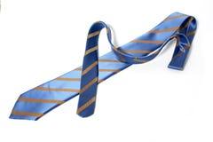 błękit paskujący krawat Obrazy Stock
