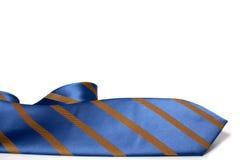 błękit paskujący krawat Fotografia Stock