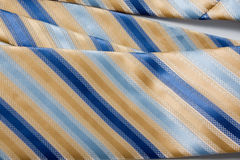 błękit paskujący krawat Zdjęcie Royalty Free