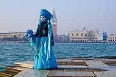 błękit piękna maska Zdjęcia Royalty Free