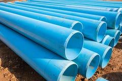 Błękit Piszczy budowę zdjęcie stock
