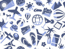 błękit podróż deseniowa bezszwowa Obraz Royalty Free