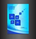 Błękit pokrywy projekta szablonu wektoru ilustracja Obraz Stock
