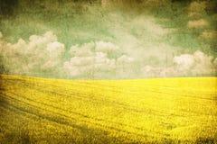 błękit pola zieleni grunge wizerunku niebo Zdjęcie Royalty Free
